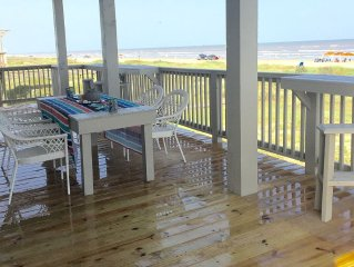 This New Beachfront Home is ON THE BEACH!  Private walkway! Great Reviews!