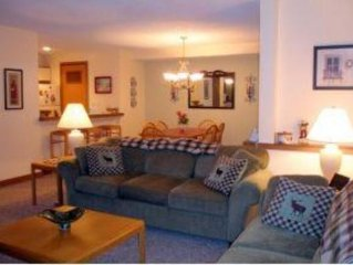 Slopeside 2BR/2Ba at Seasons Mt Snow; Just Steps to the Sports Center