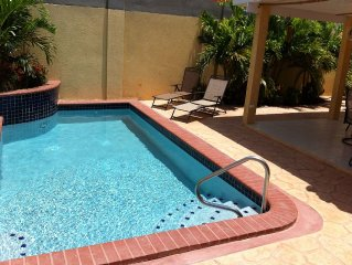 Relax in your own private pool after a 'hard' day at the beach or sightseeing
