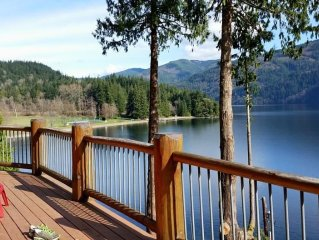 400 Feet of Private Waterfront With Private Dock in 5300 Sq Ft Log House