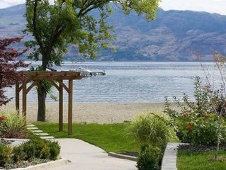 Okanagan Lake luxurious 2 bdrm ground floor condo At Barona Beach Resort