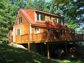 Bridgton, Maine, Very private Long Lake Waterfront Cabin