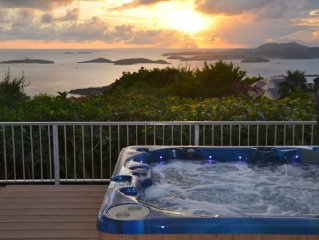 Plumeria: Panoramic Ocean & Sunset Views, Heated Pool, Spa, & Privacy