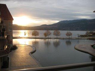 Enjoy Sitting on the Patio Overlooking the Lagoon and Okanagan