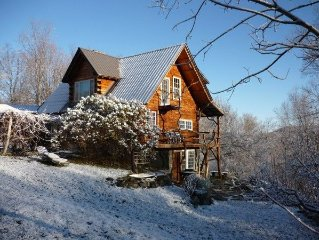 Private and artistic log cabin, bring your pets and enjoy the best of Vermont