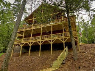 BRAND NEW-Beautiful Riverfront Cabin in Ellijay Gated Community-7th night free!