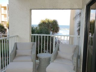 Beautifully Remodeled Large 1/1 Condo With Great Ocean View On Car Free Beach!