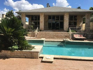 Lake LBJ Lakefront Home w/ Pool, 7 Bedrooms, Sleeps 25