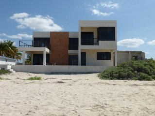 Spacious two-story home on the Gulf of Mexico near Merida