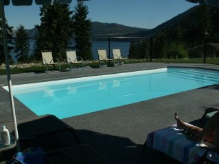 Lake Chelan Family Vacation Rental with private pool.