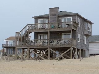 As Close As You Can Get! Oceanfront Nags Head Home With Panoramic Ocean Views