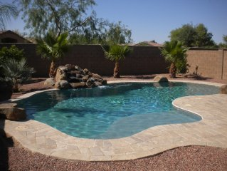 3 Bedroom 2.5 baths spacious two level with HEATED pool