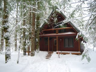 Wooded New Cabin on Sandy River and 10 Miles from Ski Resorts