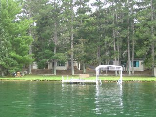 Unique 2 Cabin Lakefront Rental On Whitefish Chain