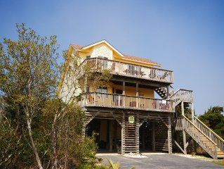 Sea's Calling - A Beautiful Soundside Home In Kinnakeet Shores Resort, Avon, NC
