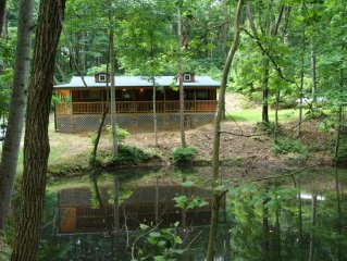 Hickory Grove Cabin On 8 Acres With Private Fishing Pond.