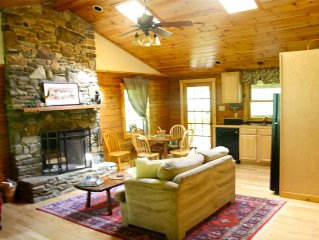 Asheville - Sundance Log Cabin - Charming with 2  Streams