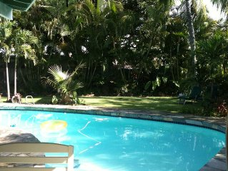 Hawaiian Tropical pool home, Private, Relaxing...Great for families