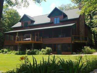 Charming Lake Lodge / Private Bar On 5500 Acre Woman Lake Chain, Include Pontoon
