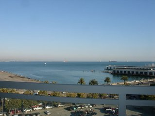 Fully furnished condo with waterview from every room in SF