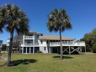 Sullivan's IslandOceanfront 5 Bdrm 4 bath sleeps 12 with Spectacular Ocean Views