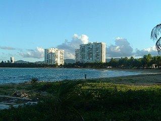 On the beach & close to El Yunque