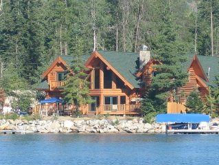 Waterfront Log Home: Family Getaway on the Water, Large Dock