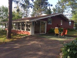 World class setting, Cottage on Peninsula surrounded by Lake Nokomis