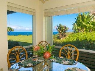 Perfect Location! Go to Kauai!  Turtle Cove Views & Romantic Getaway!