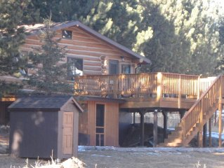 4 Bedroom Log Home in the Heart of the Hills! Ideal Location!