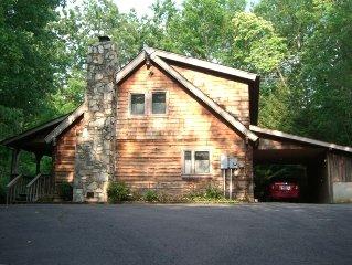 Beautiful Log Home Near Cold Mountain