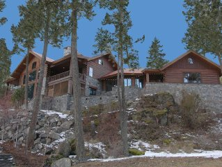 STUNNING STONE LAKEFRONT HOME AND GUEST HOUSE ON PRIVATE COVE