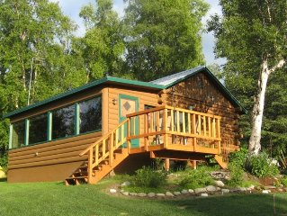 Lakefront Log Cabin - Spectacular Views! Centrally located on 6 private acres