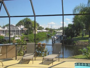 Waterfront home in upscale community, designed for privacy