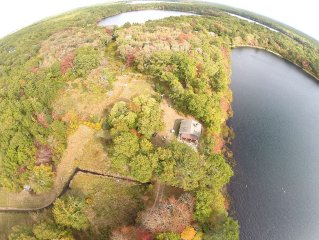 Private Cape Cod Lake House on 30 Acres of Conservation Land.
