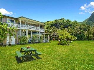 Beautifully  Located  Beachfront Family Home at Makua Beach