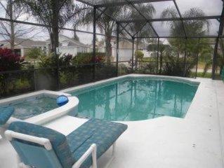 Orlando Area 4 BR/3 BA Villa - Pool, Spa, Game Room, Wi-Fi, Gated Community