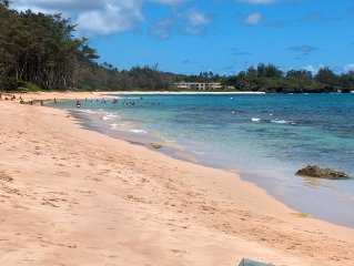 Hawaiian Dreams 4BR BEACH HOUSE only 27 steps to white sand swimming beach!