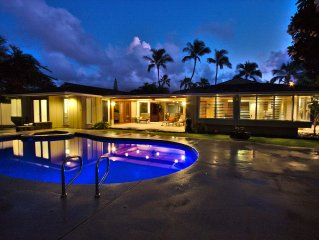 Blue Tiki – A Tropical Family Home In The Heart Of Kailua: Pool/Spa, Pool Table!
