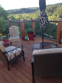 Get a treehouse feeling with this beautiful view of Spearfish Canyon