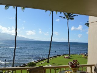 Maalaea Maui Oceanfront Condo -Mountain Views & Whale Watching