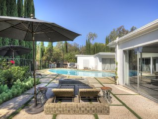 The Ojai Oasis - Peaceful MidCentury Home - Solar Heated, Saltwater Pool