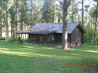Black Hills - Little Elk Cabin (CCC Built) in  Vanocker Canyon Near Nemo!