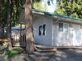 The Perch is a cozy cabin at Blind Bay Hideaway on the beautiful sunny Shuswap