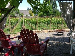 FREE NITE! Farmhouse on Private Vineyard~Firepit,Bikes,Robes, Donkey, Near Plaza