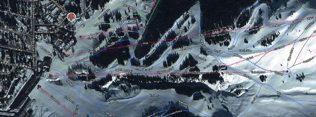 Condo location at the base of Chair 3 (Bear Cub Quad) which is the beginner area