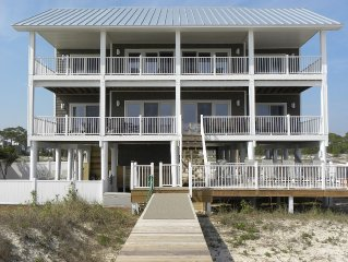 8 Bedrm/6.5 Baths/GULF FRONT - 5 King Masters, Elevator, Private Heated Pool