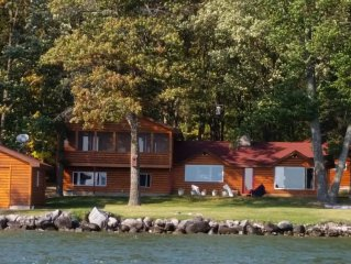 Family and Fishermen Friendly Log home, Trader's Bay, on Leech Lake