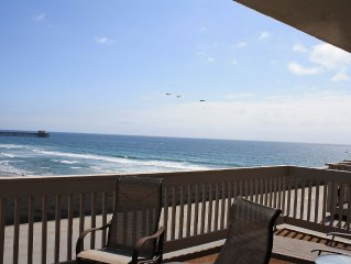 NCV D306 2BR 2BA 2-story Penthouse with breathtaking ocean, sand, & pier views.