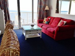 Sea Watch Resort 1 BR OCEANFRONT, CENTER CONDO IN NORTH TOWER!  FREE WIFI!